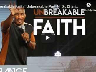 Dharius Daniels Sermon - Unbreakable Faith - August 2020