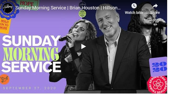 Hillsong Church Sunday Live Service September 27 2020