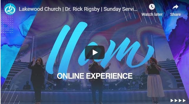 Lakewood Church Live Service September 6 2020