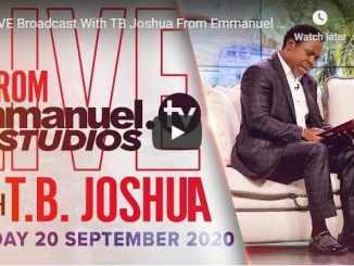 Prophet TB Joshua Sunday Live Service September 20 2020