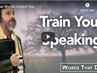 Rabbi Schneider - How Words Control You - September 2020