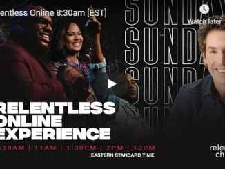 Relentless Church Sunday Live Service September 27 2020