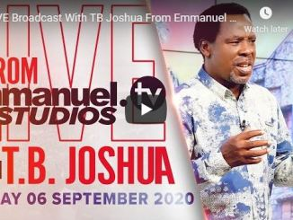TB Joshua Sunday Live Service September 6 2020