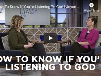 Joyce Meyer - How To Know If You're Listening To God