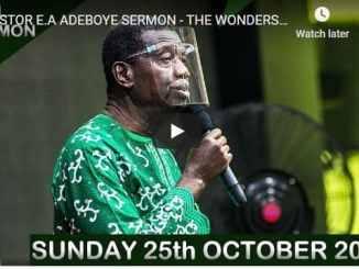 RCCG Sunday Live Service October 25 2020