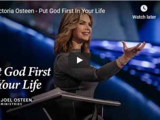 Victoria Osteen Message - Put God First In Your Life