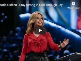 Victoria Osteen - Stay Strong In God Through Joy