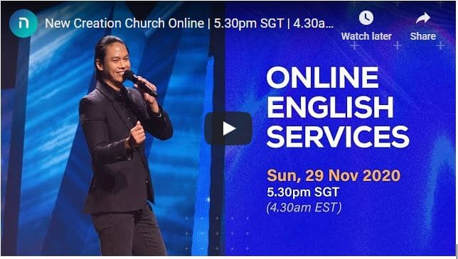 New Creation Church Sunday Live Service November 29 2020