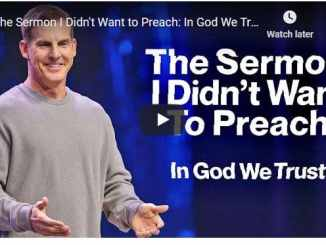 Pastor Craig Groeschel - The Sermon I Didn't Want to Preach