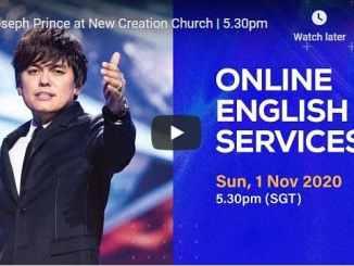 Joseph Prince Sunday Live Service November 1 2020