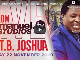 Prophet TB Joshua Sunday Live Service November 22 2020