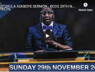 RCCG Sunday Live Service November 29 2020