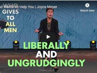 Joyce Meyer Message - God Wants To Help You