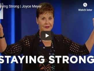 Joyce Meyer Sermon - Staying Strong