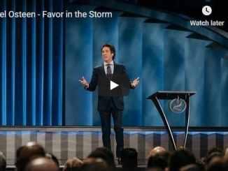 Pastor Joel Osteen Sermon - Favor in the Storm
