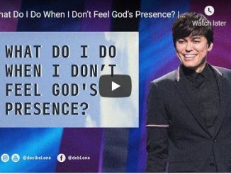 Joseph Prince Sermon - What Do I Do When I Don't Feel God's Presence?