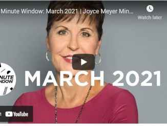 Joyce Meyer Ministries : 2 Minute Window - March 2021