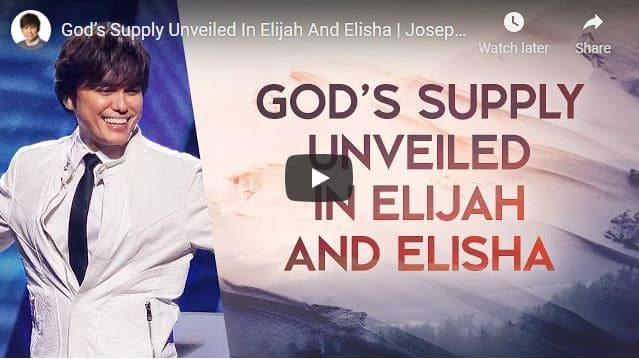Pastor Joseph Prince - God's Supply Unveiled In Elijah And Elisha