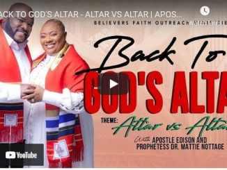 Apostle Edison & Prophetess Mattie Nottage - Back To God's Altar