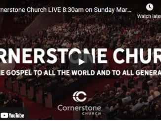 Cornerstone Church Sunday Live Service March 21 2021