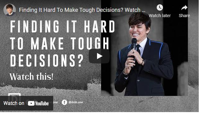 Joseph Prince Message - Finding It Hard To Make Tough Decisions?