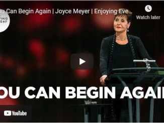Joyce Meyer - You Can Begin Again