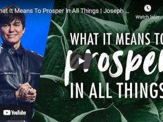 Pastor Joseph Prince Sermon - What It Means To Prosper In All Things
