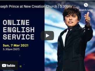 Pastor Joseph Prince at New Creation Church Sunday March 7 2021