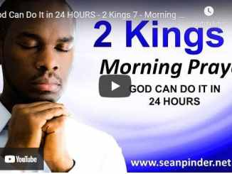 Pastor Sean Pinder Morning Prayer March 6 2021