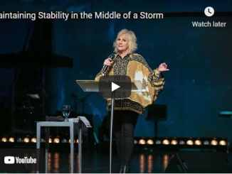 Pastor Sheryl Brady Sermon - Maintaining Stability in the Middle of a Storm