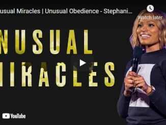 Pastor Stephanie Ike Sermon - Unusual Miracles , Unusual Obedience