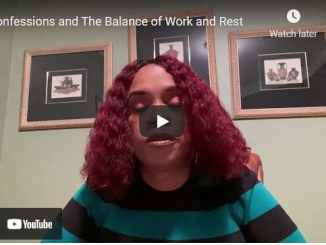 Taffi Dollar Sermon - Confessions and The Balance of Work and Rest