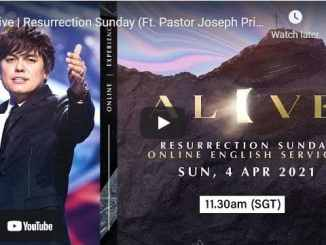 Joseph Prince At New Creation Church Easter Service April 4 2021