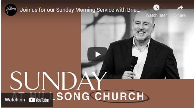 Pastor Brian Houston At Hillsong Church Sunday Service April 11 2021
