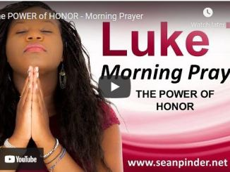 Pastor Sean Pinder Morning Prayer For April 1 2021