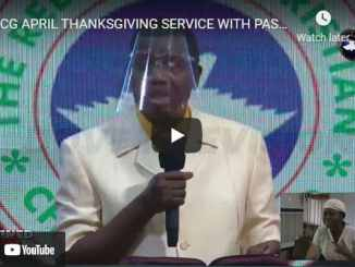 RCCG Easter Sunday Live Service For April 4 2021