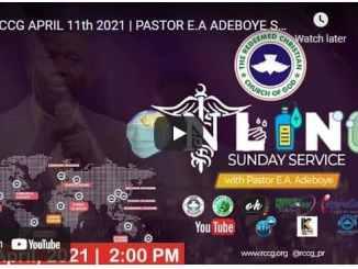 RCCG Sunday Live Service April 11 2021