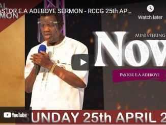 RCCG Sunday Live Service April 25 2021