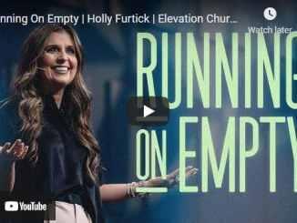 Pastor Holly Furtick Sermon - Running On Empty