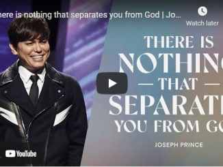 Pastor Joseph Prince - There is nothing that separates you from God