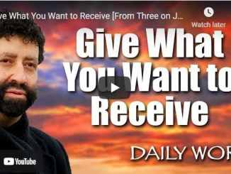 Rabbi Jonathan Cahn Sermon - Give What You Want to Receive