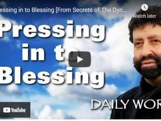 Rabbi Jonathan Cahn Sermon - Pressing in to Blessing