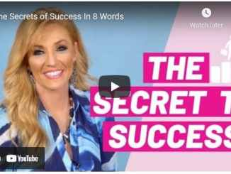 Terri Savelle Foy - The Secrets of Success In 8 Words