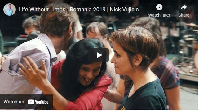 Watch Nick Vujicic In Romania - Life Without Limbs