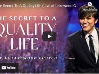 Pastor Joseph Prince Sermon The Secret To A Quality Life