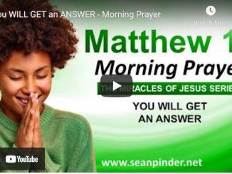 Pastor Sean Pinder Morning Prayer Session July 29 2021