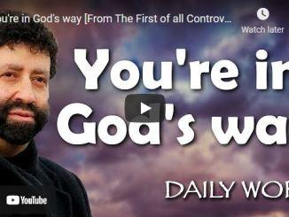 Rabbi Jonathan Cahn Sermon: You're in God's way