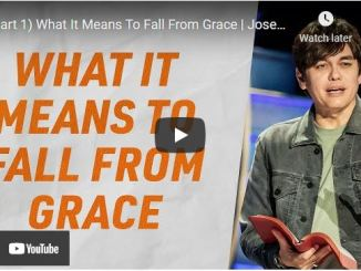 Pastor Joseph Prince Sermon: What It Means To Fall From Grace (Part 1)