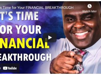 Pastor Sean Pinder: It's Time for Your Financial Breakthrough