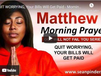 Pastor Sean Pinder Morning Prayer Session August 9 2021